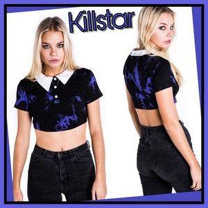 Gothic Killstar Dye Fast Crop TopSz: Med & Sm